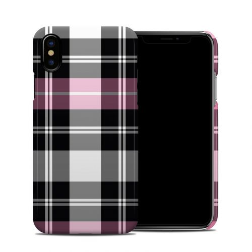 Pink Plaid iPhone XS Clip Case