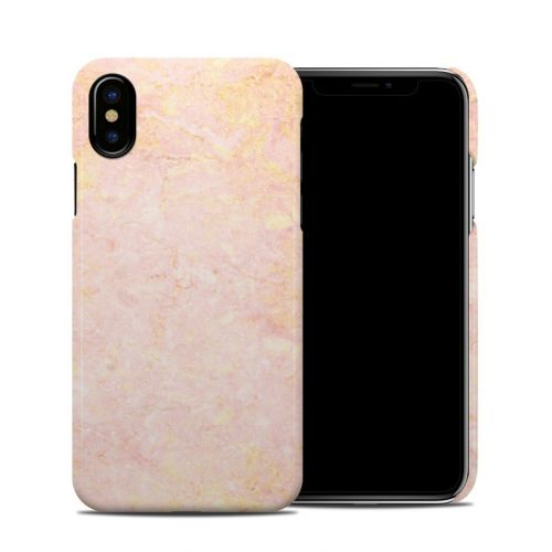 Rose Gold Marble iPhone X Clip Case