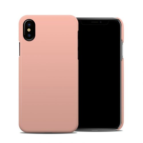 Solid State Peach iPhone XS Clip Case