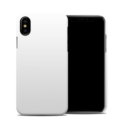 Solid State White iPhone XS Clip Case