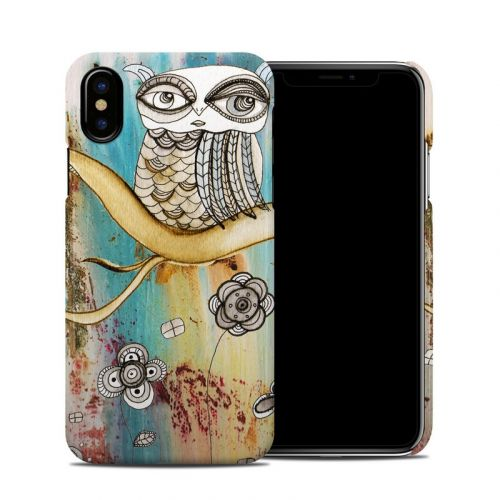 Surreal Owl iPhone X Clip Case