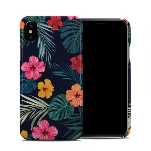 Tropical Hibiscus iPhone XS Clip Case