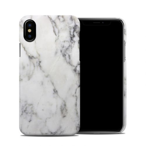 White Marble iPhone X Clip Case