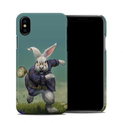 White Rabbit iPhone X Clip Case