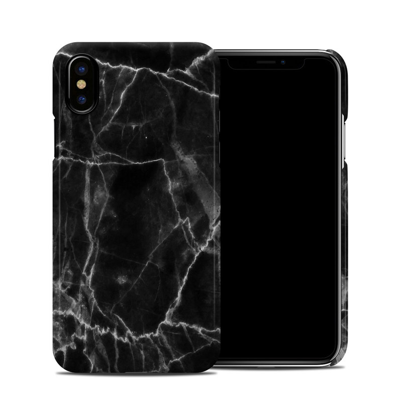 big sale 0c972 ae24a Black Marble iPhone XS Clip Case