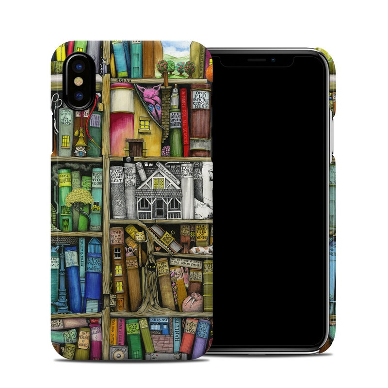 Bookshelf iPhone X Clip Case