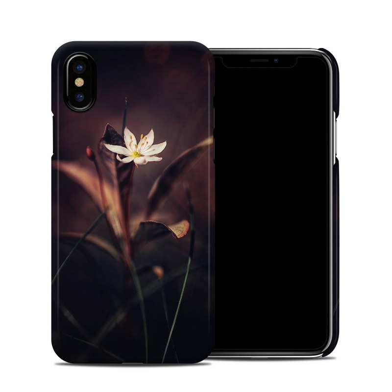 iPhone XS Clip Case design of Flower, Yellow, Light, Plant, Sky, Still life photography, Wildflower, Petal, Darkness, Spring with black, red colors