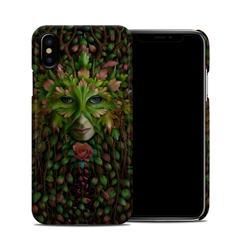 Green Woman iPhone X Clip Case