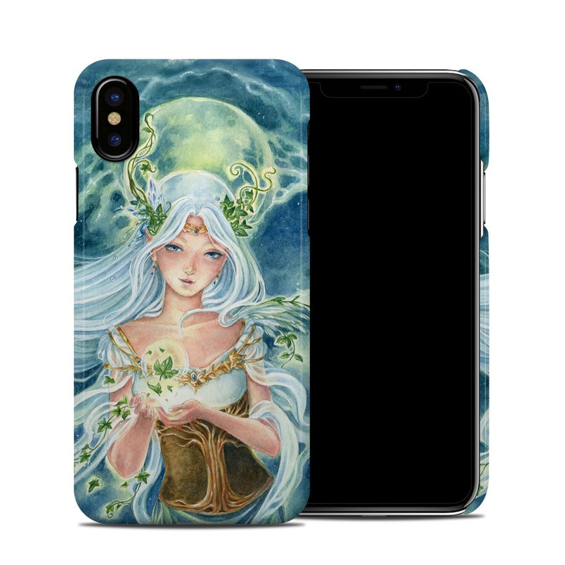 iPhone XS Clip Case design of Cg artwork, Mythology, Fictional character, Illustration, Angel, Art, Mythical creature, Supernatural creature, Painting with blue, green, white, orange, yellow colors