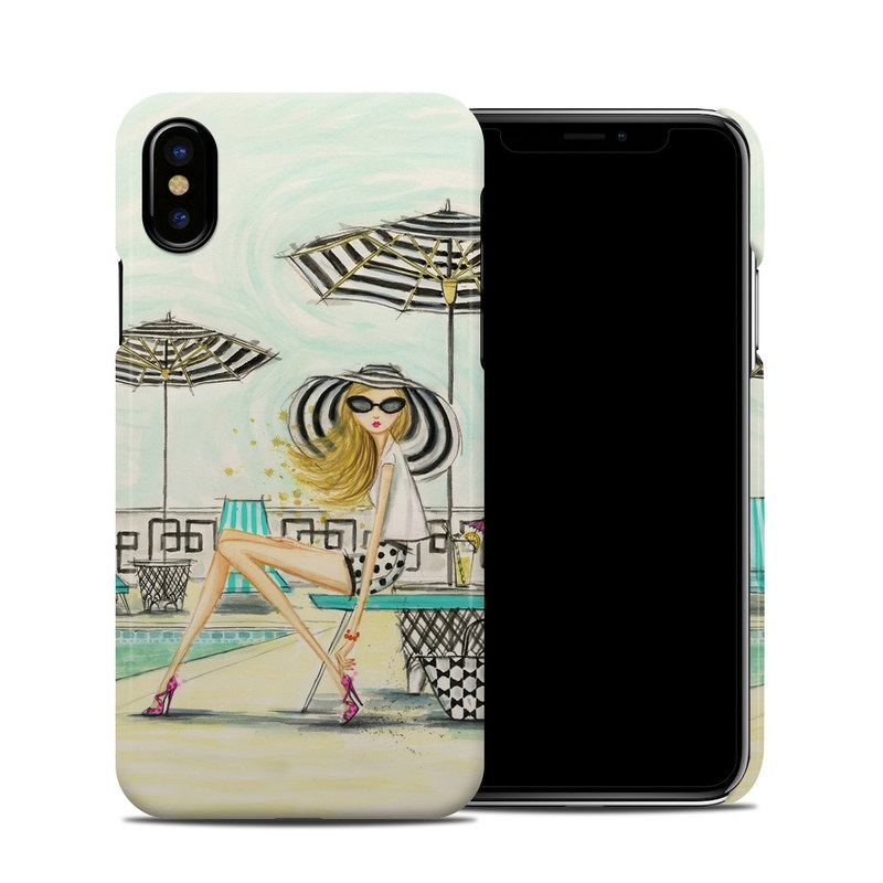 iPhone XS Clip Case design of Cartoon, Line, Illustration, Fashion illustration, Ferris wheel, Recreation, Style, Art with black, white, yellow, pink, blue colors