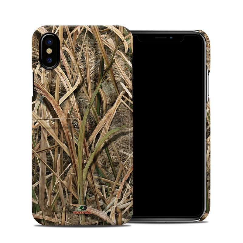 Shadow Grass Blades iPhone X Clip Case