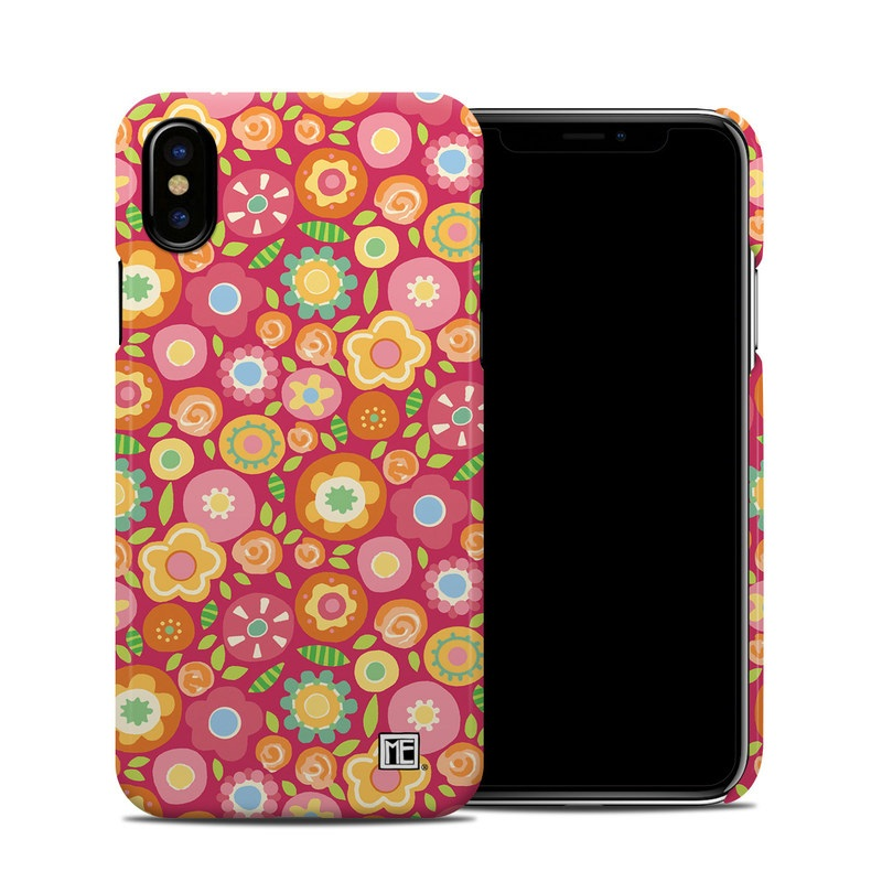 Flowers Squished iPhone X Clip Case