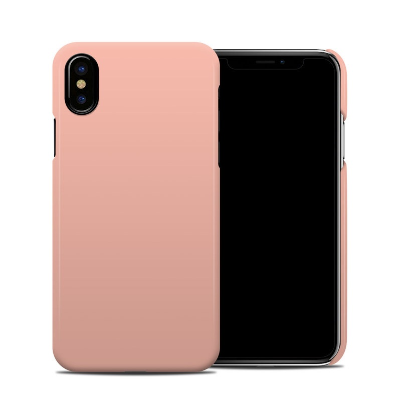 Solid State Peach iPhone X Clip Case