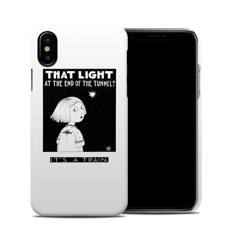iPhone XS Clip Case design of Cartoon, Poster, Font, Black-and-white, Fictional character, Illustration, Coloring book with black, white colors