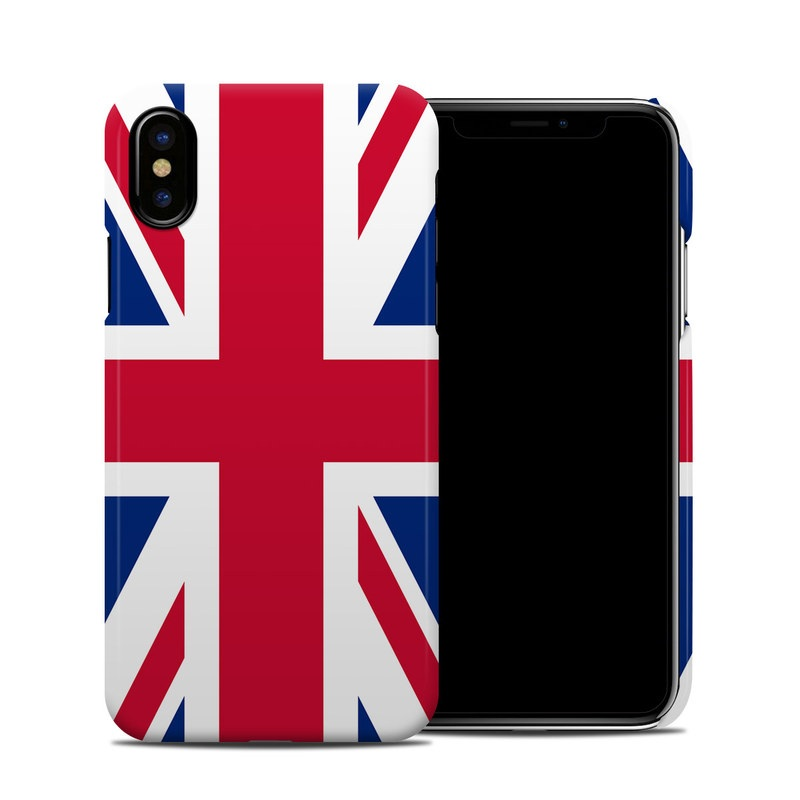 iPhone XS Clip Case design of Flag, Red, Line, Electric blue, Design, Font, Pattern, Parallel, Flag Day (USA) with red, white, blue colors