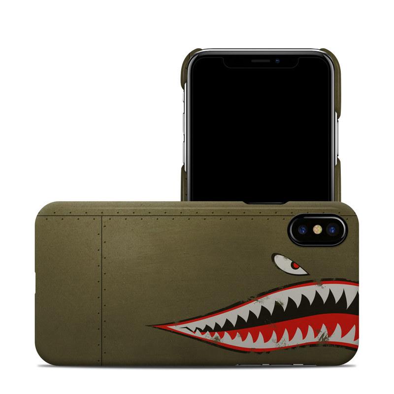 newest 8e171 75a45 USAF Shark iPhone XS Clip Case