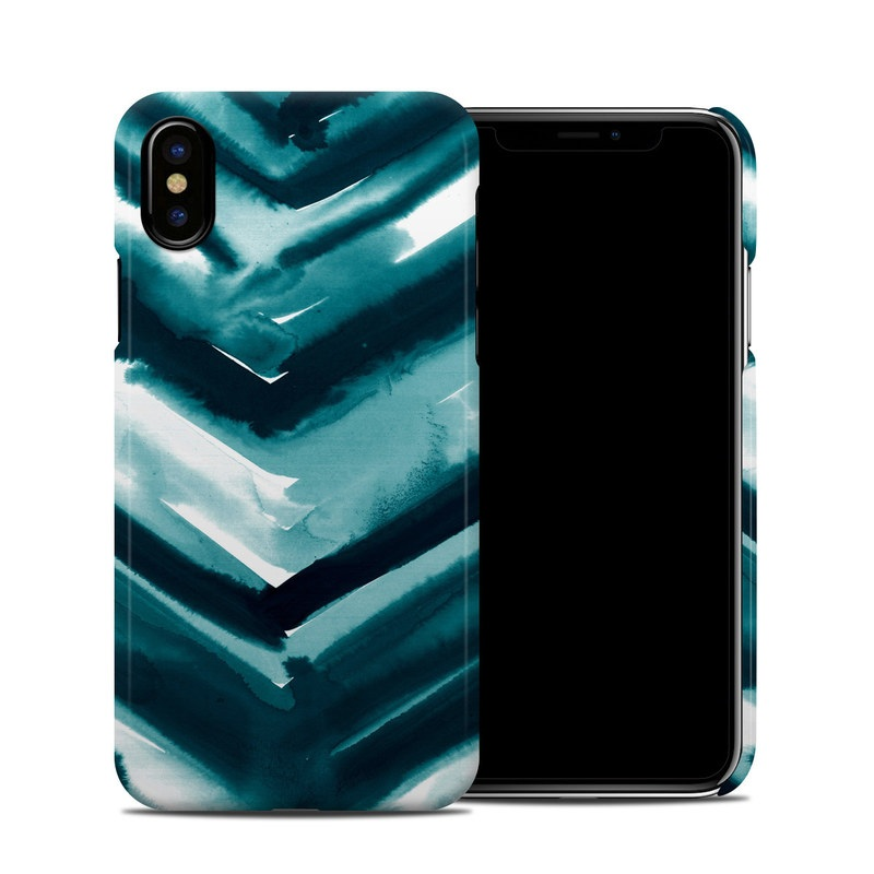 Watercolor Chevron iPhone X Clip Case