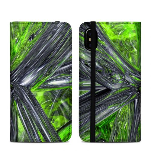 Emerald Abstract iPhone XS Folio Case
