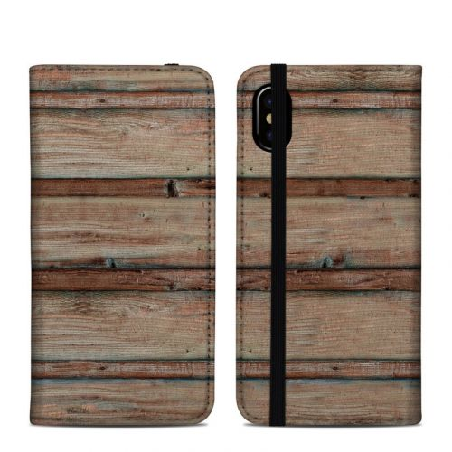 Boardwalk Wood iPhone XS Folio Case
