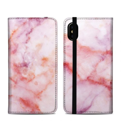 Blush Marble iPhone X Folio Case