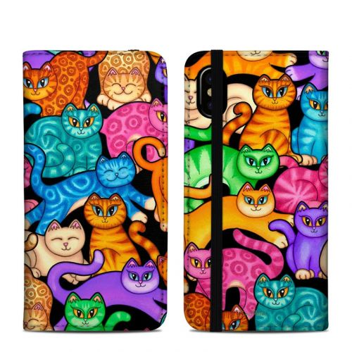 Colorful Kittens iPhone X Folio Case