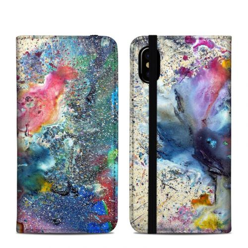 Cosmic Flower iPhone X Folio Case