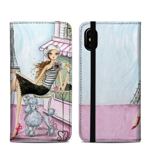 Cafe Paris iPhone XS Folio Case