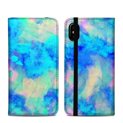 Electrify Ice Blue iPhone XS Folio Case