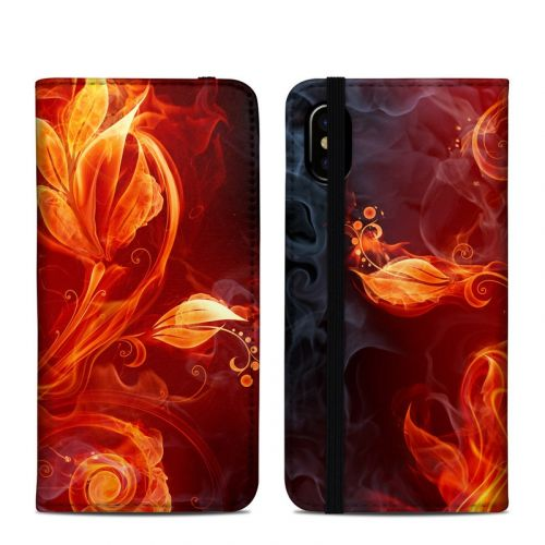 Flower Of Fire iPhone X Folio Case