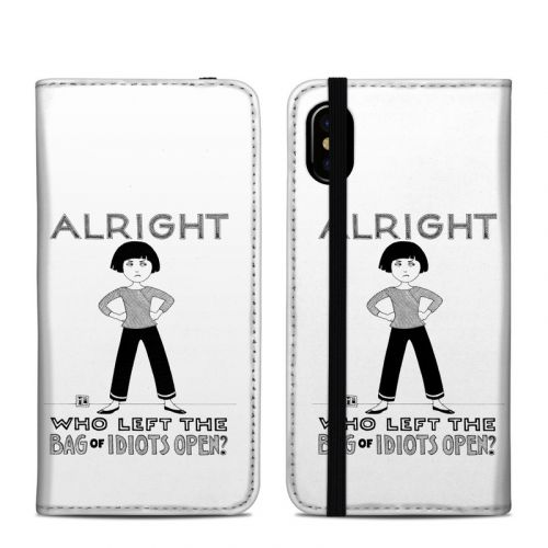 Bag of Idiots iPhone X Folio Case