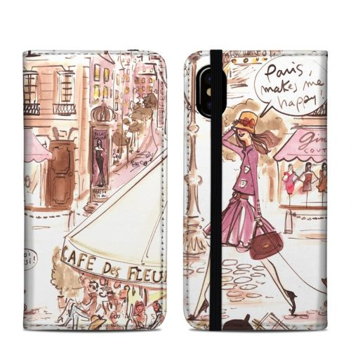 Paris Makes Me Happy iPhone XS Folio Case