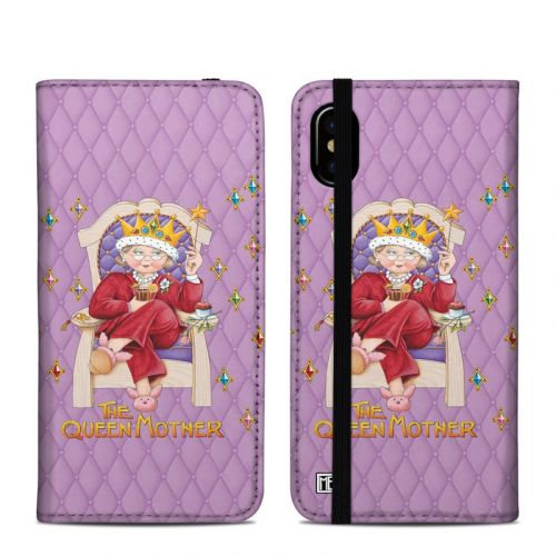 Queen Mother iPhone XS Folio Case