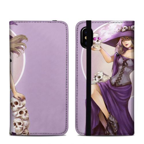 Skull Witch iPhone XS Folio Case