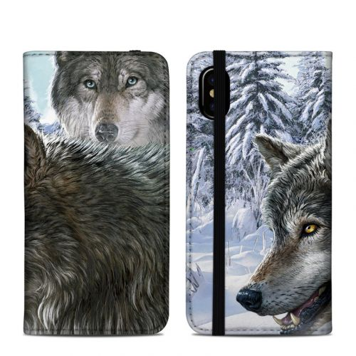 Snow Wolves iPhone XS Folio Case