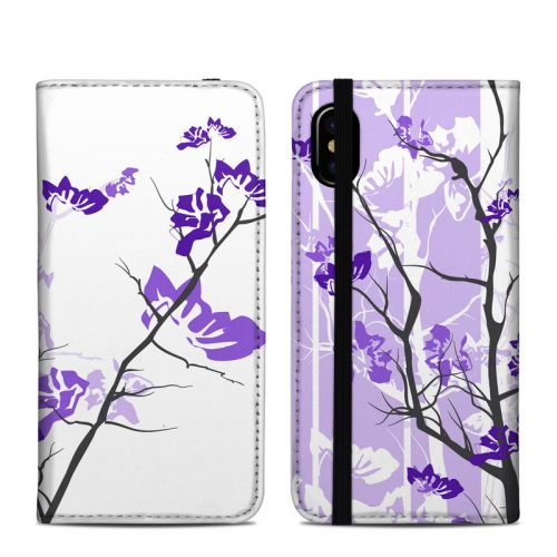 Violet Tranquility iPhone XS Folio Case