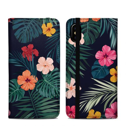 Tropical Hibiscus iPhone XS Folio Case