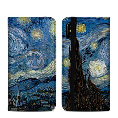 Starry Night iPhone XS Folio Case