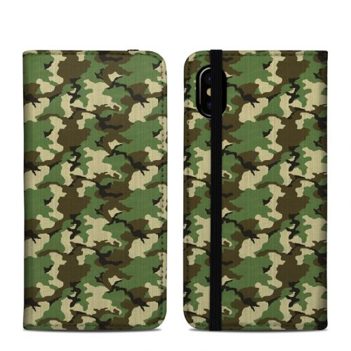 Woodland Camo iPhone X Folio Case