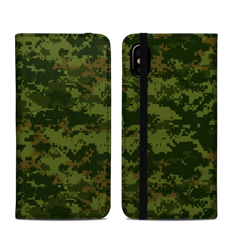 CAD Camo iPhone X Folio Case