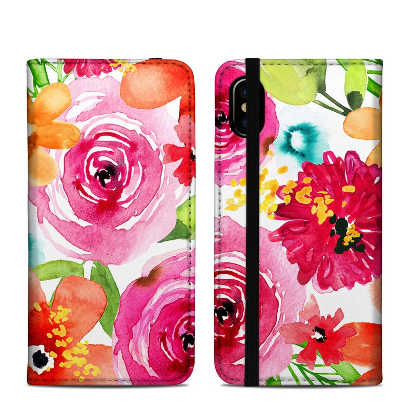 Floral Pop iPhone XS Folio Case
