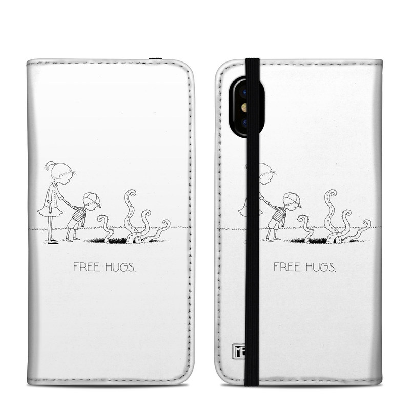 iPhone XS Folio Case design of Line art, Cartoon, Text, Drawing, Illustration, Coloring book, Black-and-white, Child, Art with black, white colors