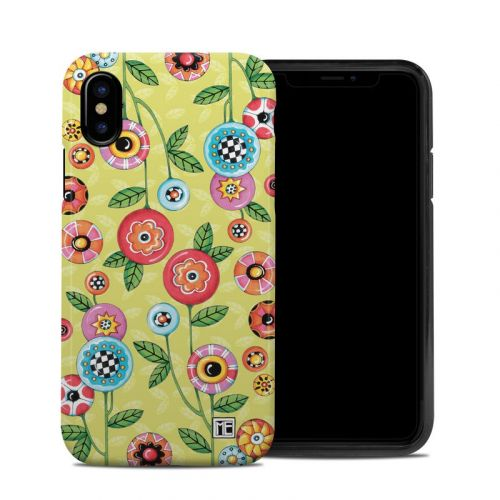 Button Flowers iPhone X Hybrid Case