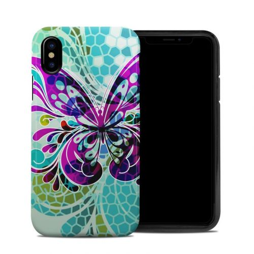 Butterfly Glass iPhone XS Hybrid Case