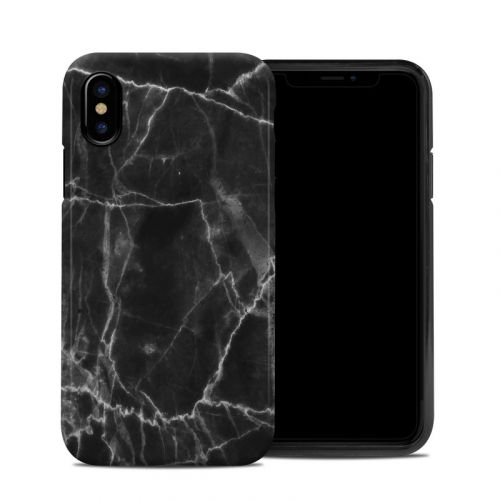 Black Marble iPhone X Hybrid Case