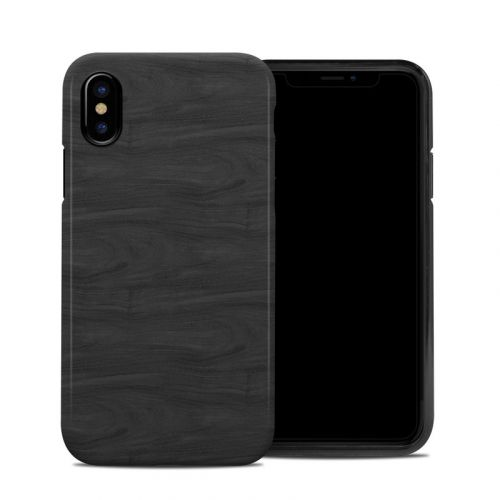 Black Woodgrain iPhone XS Hybrid Case