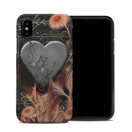 Black Lace Flower iPhone X Hybrid Case