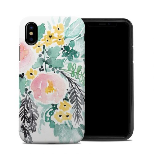 Blushed Flowers iPhone XS Hybrid Case