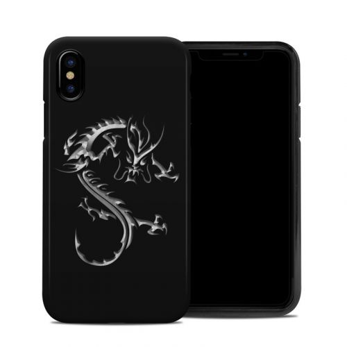 Chrome Dragon iPhone X Hybrid Case