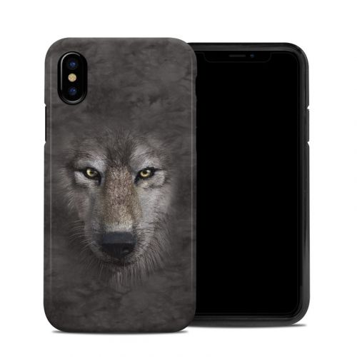 Grey Wolf iPhone XS Hybrid Case