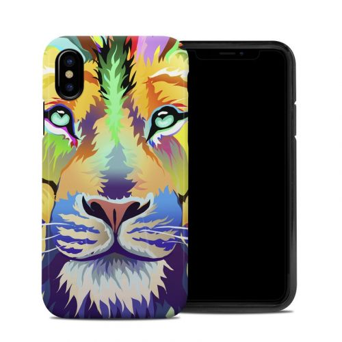 King of Technicolor iPhone XS Hybrid Case
